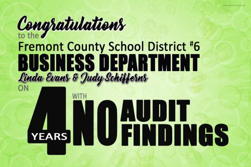 Congrats Business Dept on 4 years of no audit findings