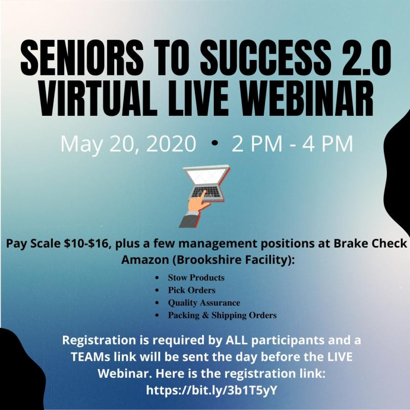 Seniors to Success Virtual LIVE Webinar