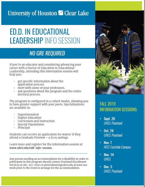 Further your education with a Doctoral Program at University of Houston Clear Lake