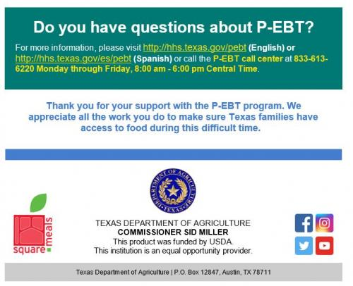 Questions about P-EBT