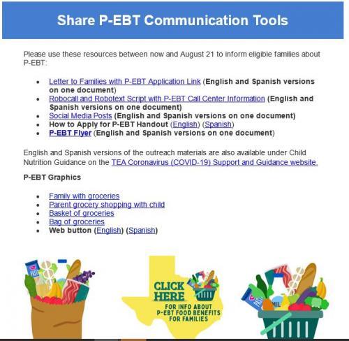 Share PEBT Communication Tools