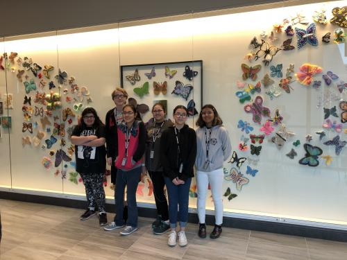 Students enjoy a visit to the Holocaust Museum.