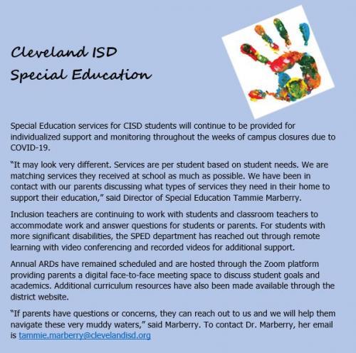 CISD special education
