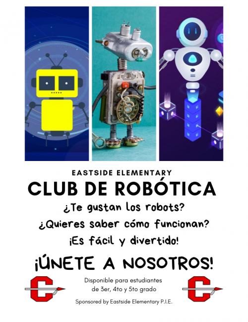 Robotics Club Flyer Spanish