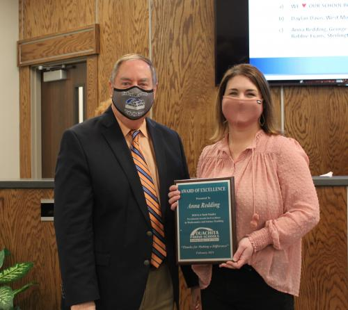 Anna Redding pictured with Dr. Don Coker
