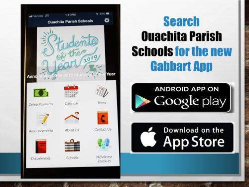 Slide Introducing New Ouachita Parish Schools App