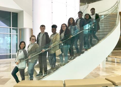 Students at CenturyLink for Back Office Day