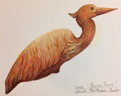 Olinde Flaming Heron design