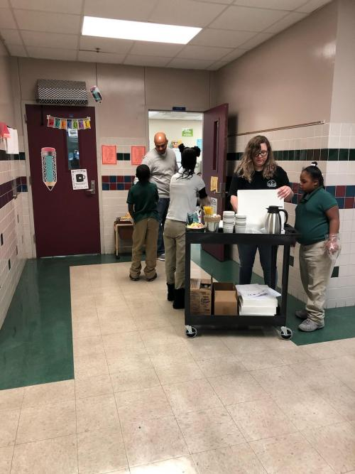 Students making deliveries