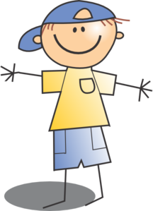 boy wearing cap clip art