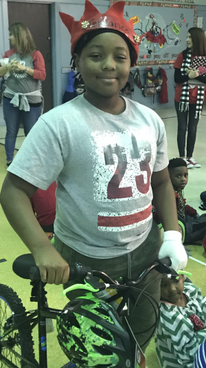 Lucky Terrance wins a bike!