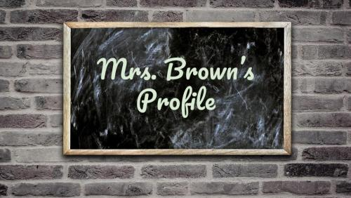 Mrs. Brown's profile button