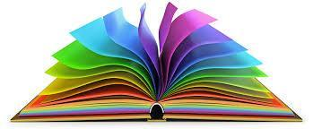 Colorful pages of a book.