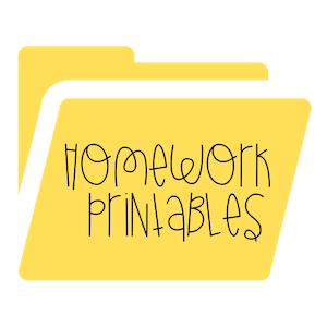 Homework Printables