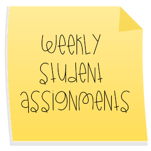 Weekly Student Assignments
