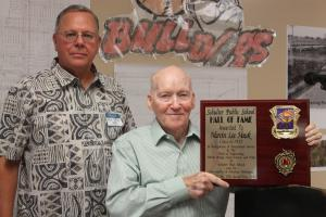 Marvin Lee Hawk, Class of 1952 inducted into the Hall of Fame, June, 2015.