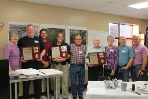 The Hawk Brothers and their families inducted into the Schulter Hall of Fame, June 2015.
