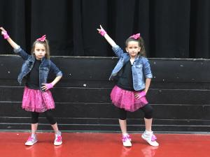 Wynter & Bella performing at the Talent Show