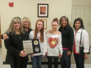 Pictured are Lonnetta Pogue, Becky Reed, Nancy Greene, Jennifer Copeland (not pictured Marjorie Gregory) Dr. Lonny Parrish's daughters with Addison and Kennady Brumlow.
