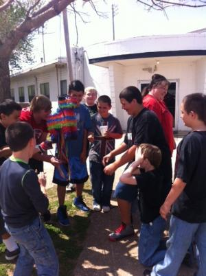 Fiesta time for the 5th-8th grade boys.