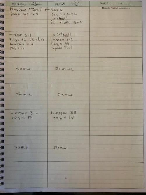 Lesson Plans Aug. 23-27