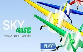 sky chase typing words