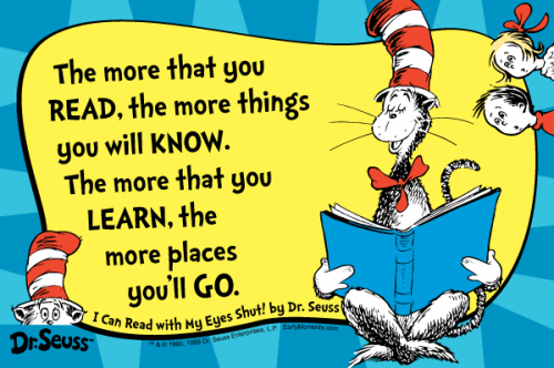 Dr Seuss Quote about Reading