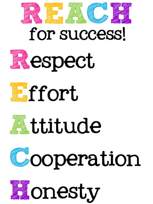 Reach for Success Acronym Clip Art
