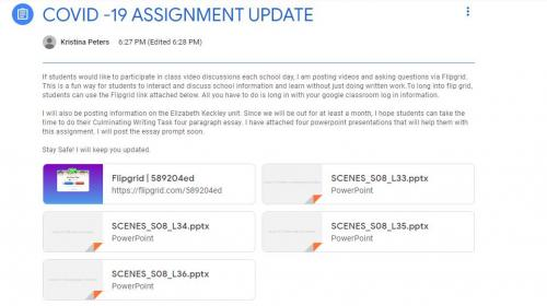 COVID-19 Assignment Update