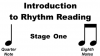 Image that corresponds to Rhythm Reading practice - stage one