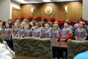 Highland Bulldog Choir 2019-2020 WM City Hall Open House