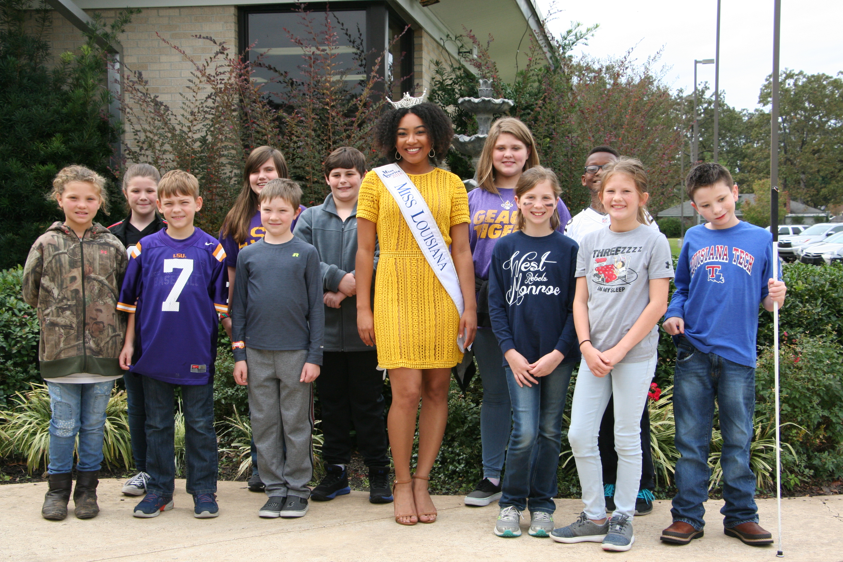 Student of the Year Nominees with Miss Louisiana