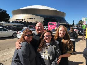 The Eubanks love the Saints!