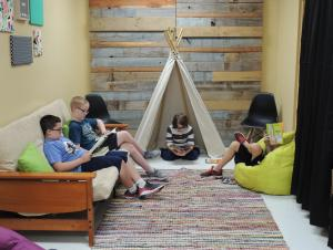 Table of the week enjoying the new Reading Nook!