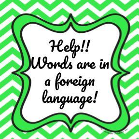help for when words are in a foreign language