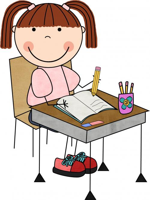 student sitting at desk