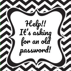 Help. Chromebook is asking for old password
