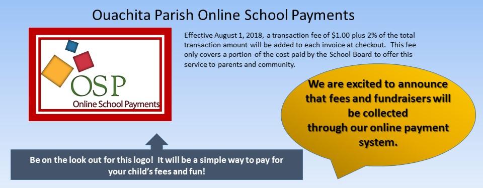 New Online School Payment Option