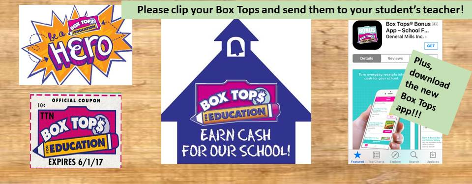 Box Tops provide funds for our school