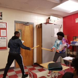 Student reenactment of Macbeth, Act 5, Scene 8