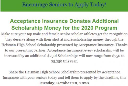 Heisman scholarship