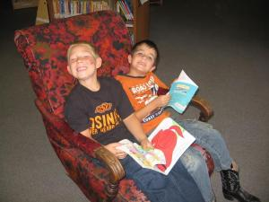 Friends enjoying books together!!