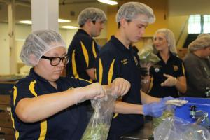 Wellston FFA members volunteering at the Regional Food Bank