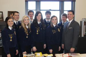 Chapter Officers at FFA Day at the Capitol
