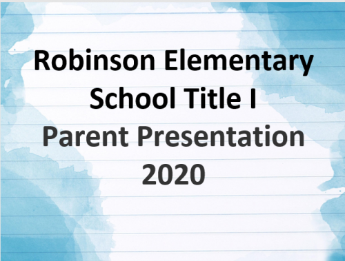 Title I parent presentation