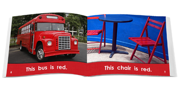 The bus is red book