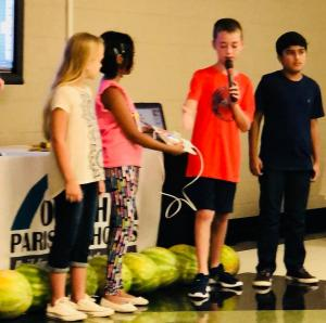 Little Bits Robotics Presentations by SES 5th Grade students at Parish Back-To-School In-Service