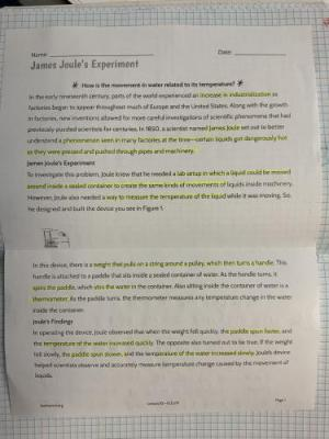 James Joule article PG 72 part A