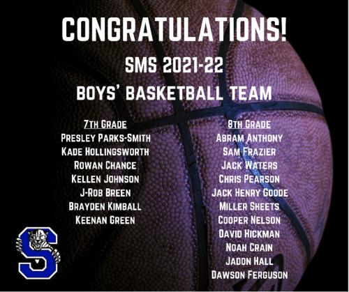 Boys Basketball Roster 2021-2022