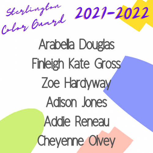 COLOR GUARD ROSTER 2021-2022